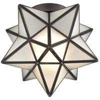 Dimond Lighting 1145-010 Moravian Star 1 Light 10 inch Oil Rubbed Bronze Flush Mount Ceiling Light