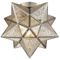 Dimond Lighting 1145-011 Moravian Star 1 Light 10 inch Antique Nickel Flush Mount Ceiling Light