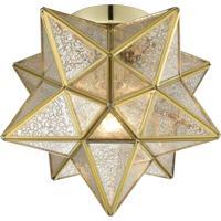Dimond Lighting 1145-012 Moravian Star 1 Light 10 inch Brass Flush Mount Ceiling Light