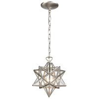 Moravian Star 1 Light 9 inch Antique Nickel Mini Pendant Ceiling Light