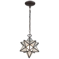 Dimond Lighting 1145-015 Moravian Star 1 Light 9 inch Oil Rubbed Bronze Mini Pendant Ceiling Light