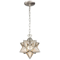 Dimond Lighting 1145-016 Moravian Star 1 Light 9 inch Antique Nickel Mini Pendant Ceiling Light
