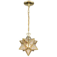 Moravian Star 1 Light 9 inch Brass Mini Pendant Ceiling Light