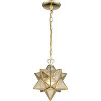 Dimond Lighting 1145-017 Moravian Star 1 Light 9 inch Brass Mini Pendant Ceiling Light
