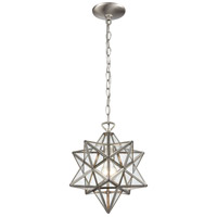 Moravian Star 1 Light 12 inch Antique Nickel Mini Pendant Ceiling Light