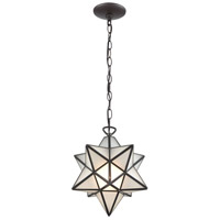 Moravian Star 1 Light 12 inch Oil Rubbed Bronze Mini Pendant Ceiling Light
