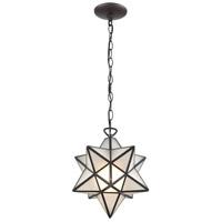 Dimond Lighting 1145-021 Moravian Star 1 Light 12 inch Oil Rubbed Bronze Mini Pendant Ceiling Light