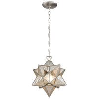 Dimond Lighting 1145-022 Moravian Star 1 Light 12 inch Antique Nickel Mini Pendant Ceiling Light