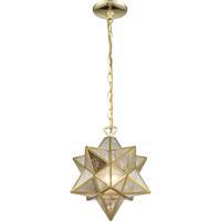 Dimond Lighting 1145-023 Moravian Star 1 Light 12 inch Brass Mini Pendant Ceiling Light