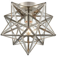 Dimond Lighting 1145-026 Moravian Star 1 Light 10 inch Antique Nickel Flush Mount Ceiling Light