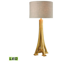 LExpo 31 inch 9.5 watt Antique Gold Leaf Table Lamp Portable Light in LED