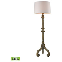 Mathilde 63 inch 9.5 watt Aged Woodtone Floor Lamp Portable Light in LED