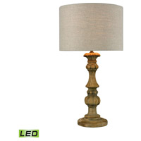 Haute-Vienne 28 inch 9.5 watt Natural Stain Table Lamp Portable Light in LED