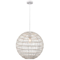 Dimond Lighting 1223-028 Simoom 1 Light 19 inch White Pendant Ceiling Light