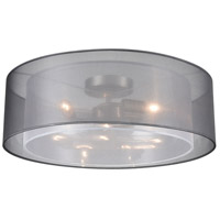 Genteel 1 Light 20 inch Silver with White Pendant Ceiling Light