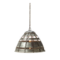 Lazy Susan by Dimond Lighting Fortress 1 Light Pendant in Distressed Silver 135004