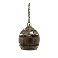 Lazy Susan by Dimond Lighting Fortress 1 Light Pendant in Distressed Silver 135008