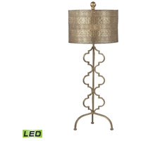 Dimond Lighting 138-014-LED Metal 34 inch 9.5 watt Gold Leaf Table Lamp Portable Light in LED
