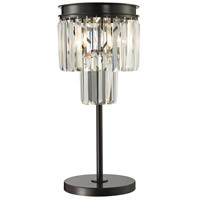 Dimond Lighting Palacial 1 Light Table Lamp in Oil Rubbed Bronze 14210/1