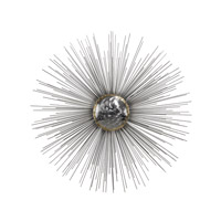 Silver Sun Metal Nickel and Gold Wall Decor
