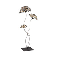 Dandelion Metal Sculpture Gold and Burnished Accents On Silver and Black Decorative Accessory