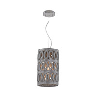 Dimond Lighting Pierced 1 Light Pendant in Grey Washed Stone Earthenware 156-013
