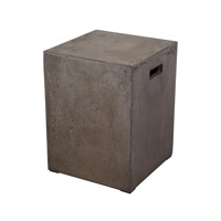 Dimond Home Square Handled Stool in Concrete 157-004