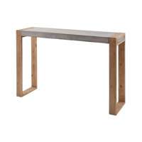 Dimond Home Paloma Console in Concrete and Atlantic Brushed Concrete and Acacia Wood 157-006
