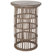 Dimond Lighting Refuge Side Table in Dark Grey Wax,Woodtone 157-023
