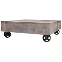 Dimond Lighting Jigger Coffee Table in Waxed Concrete,Rust 157-025