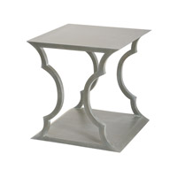 Lazy Susan by Dimond Lighting Mahogany Cloud Accent Table in Grey Wood Wood and MDF 158-003