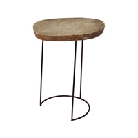 Dimond Home Stone Slab Wire Frame Accent Table in Natural Metal and Stone 159-009