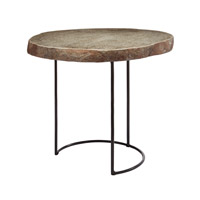 Dimond Home Stone Slab and Wire Frame Table Accent Table in Natural Metal and Stone 159-010