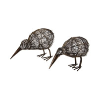 Kiwi Bronze Sculpture, Set of 2