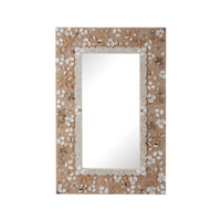 Dimond Home Rectangular Shell Mirror in Natural MDF and Capiz 159-015