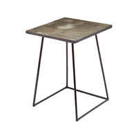 Linear 15 X 15 inch Grey Stone and Iron Accent Table Home Decor