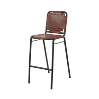 Lazy Susan by Dimond Lighting Industrial Chair in Tobacco and Black Iron Cow Leather and Iron 161-002