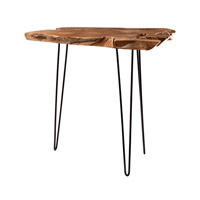 Lazy Susan by Dimond Lighting Slab Bar Accent Table in Natural Teak and Iron 162-022