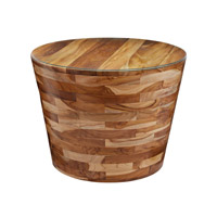 Lazy Susan by Dimond Lighting Pyramid Accent Table in Light Teak 162-026