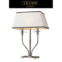 Dimond Lighting Trump Home Central Park Tribeca 2 Light Table Lamp in Polished Nickel 1621/2 photo thumbnail