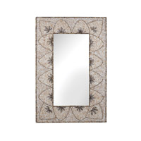 Dimond Home Flower Arc Shell Mirror in Natural MDF and Shell and Glass 163-005