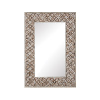 Dimond Home Cross Hatch Shell Mirror in Natural MDF and Shell and Glass 163-006