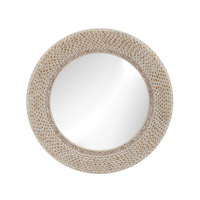Dimond Home Ribbed Ring Shell Mirror in Natural MDF and Shell and Glass 163-007