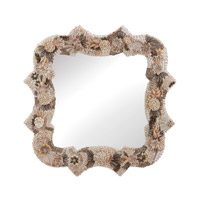 Dimond Home Square Antoinette Shell Mirror in Natural MDF and Shell and Glass 163-027
