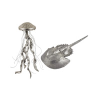 Jelly Fish and Horseshoe Crab Silver Decorative Accessory