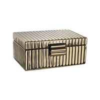 Dimond Home Ceramic Golden Jewelry Box in Gold Plated Ceramic 167-008