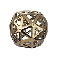 Lazy Susan by Dimond Lighting Perforated Multi-Hexagonal Decorative Accessory in Silver Plated Ceramic 167-011