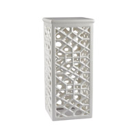 Dimond Home Pierced Pedestal in Gloss White Ceramic 167-013