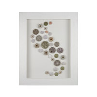 Dimond Home Sea Urchin Shadow Box in White and Natural Shell Wood and Matt and Shells 168-002