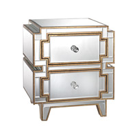 Lazy Susan by Dimond Lighting Hollywood Accent Table in Clear and Gold Mirror and MDF 173-007